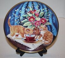 """Tea for Two by K. Duncan 8.25"""" Collector's Plate Franklin Mint Heirloom Recomm."""