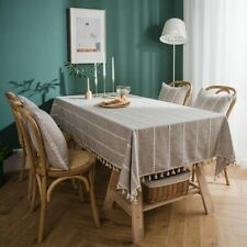 Tassel Tablecloth Rectangle Dining Table Cover Heat Resistant Table Decorative