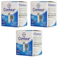 Bayer Contour Test Strips - 150 Count (3 Boxes of 50)