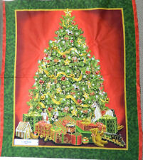Country Patchwork Quilting Fabric CHRISTMAS TREE Sewing Panel 90×110 cm Xmas New