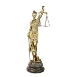 Justitia Justizia Statue Gerechtigkeit Figur Skulptur Antik Stil H53 cm M32