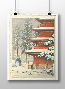 Totoro in the Snow Print, Totoro Poster, Studio Ghibli Gift, Totoro Art