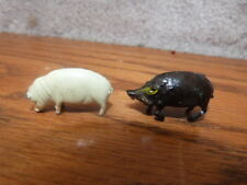 """HTF VINTAGE 1960s MARX Linemar ELEGANT Miniatures Metal Toy Figure WART HOG 1.5"""""""