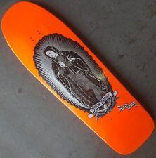 SANTA CRUZ Jason Jessee Guadalupe Skateboard Deck - Orange Neon Dip/Metallic Ink