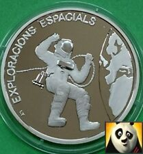 1993 ANDORRA 10 Dinars Edward White Space Exploration Silver Proof Coin