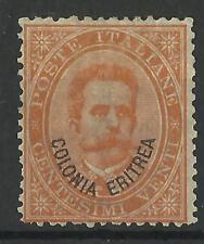 ERITREA 1893 20c ORANGE MINT