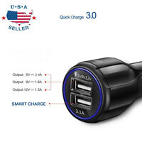 3.1A Dual USB Port Universal Fast Cigarette Lighter Car Charger for Cell Phone