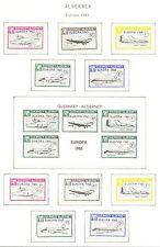 ENGLAND LOCAL STAMPS ALDERNEY  10 ST. + 1 BLOCK  1965   EUROPA  ** MNH 6 IMPERF