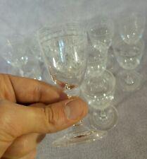 Superbe suite de 11 verres à vin blanc Cristal gravé Monogramme RB Epoque 1900