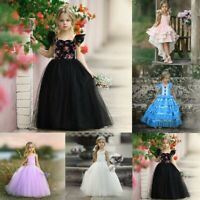 Girls Ball Gown Dress Wedding Princess Party Prom Birthday for Kids Age 1-6T UK