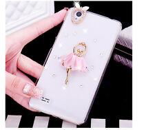 Glitter Luxury Bling Diamonds Pearls love heart Hard Phone back Case Cover #A6