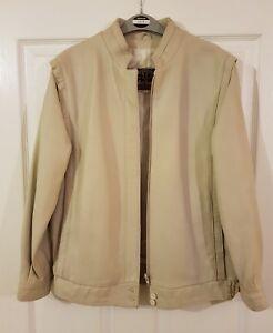 Lakeland Cream Leather Jacket Size12. RRP £139