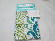 """NEW Waverly Set of 4 Napkins  19""""x19"""" WAVERLY DRESSED UP ~ Teal, Green NEW"""