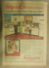 """Hotpoint Ranges and Refrigerators Ad: """"All Electric"""" Kitchen from 1951"""