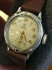 Rolex Tudor Royal 1954 Ladies Watch Chrome / Steel on brand new Hirsch strap