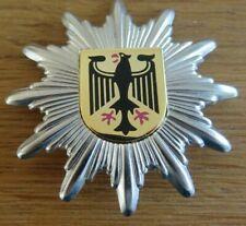 BuPol Polizei Mützenstern BGS Abzeichen neu in silber 5 cm Mützenabzeichen SIK