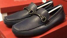 Salvatore Ferragamo Granprix Men's Shoes Loafers Blue Drivers Size 9 D US NIB