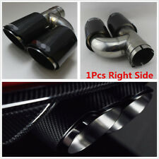 Universal Glossy Carbon Fiber 63mm Inlet Car Dual Exhaust Pipe Tail Muffler Tip