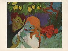 "1959 Vintage EMIL NOLDE ""IN THE LEMON GROVE"" WONDERFUL COLOR Offset Lithograph"