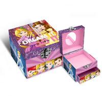 Joyero Disney Princesas En Cartón Cuadrado Caja Maletín Infantil 1342