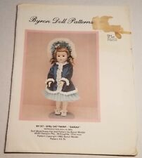 "Byron Doll Patterns By-57 -Sfbj 247 Twirp ""Sarah"" Fits 16"" Dolls Head /Toe uncut"