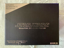 Code 3 Star Wars Empire Strikes Back Advance One Sheet Movie Poster Sculpture