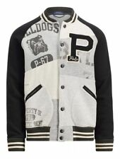 Polo Ralph Lauren Men Retro Stadium Patchwork Baseball Varsity Fleece Jacket XL
