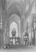 Bruges, GOTHIC SINT SAINT SALVATOR'S CATHEDRAL CHURCH ~ 1843 Art Print Engraving