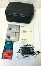 Vintage Sony MZ-R37 MiniDisc Recorder Player MD Walkman W  2 recorders