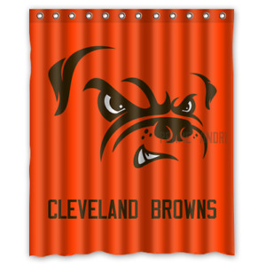 Personalized Cleveland Browns Football 60 x 72 Inch shower curtains Bath