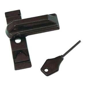Locking UPVC Door Window Sash Jammers Stopper Blocker Security Lock - Brown