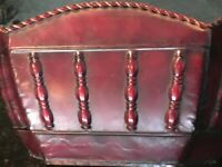 Nice Burgundy Hexagon Painted Metal Pot Planter with Rope Around, MB247