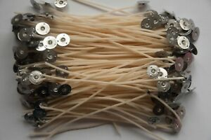 150mm Pre Waxed Wicks with Sustainers. For Candle Making. 15cm. 10 to 100