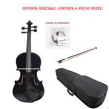 Violino 4/4 Nero  Astuccio Rigido Accessori e Corde OMAGGIO