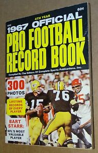1967 Official Pro Football (AFL & NFL) Record Book by Complete Sports Bart Starr