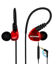 Sport Kopfhörer Bügel mit Kabel Stereo Bass In Ear Ohrhörer Wasserdicht OVP/ ROT