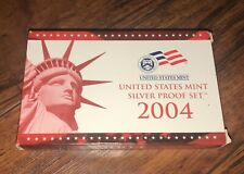 2004 S US United States Mint Silver PROOF SET w/ COA Coin Coins