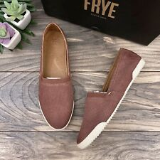 NIB Frye Melanie Slip On Sneaker Shoes Rosewood Suede 9M