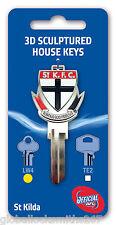 AFL St Kilda Saints 3D House Key LW4/C4 Key Blank