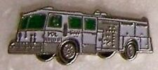 Hat Lapel Tie Tac Push Pin Fire Truck White NEW