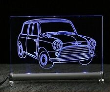 Mini Cooper comme autogravur sur LED. enseigne lumineuse rover