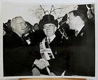 Harry Truman Thomas Dewey John Sheahan at St. Patrick's Parade 1948 ACME press