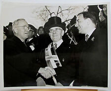Harry Truman Thomas Dewey John Sheahan at St. Patrick's Parade 1948 ACME press