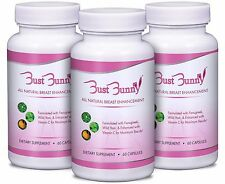 3 MONTH SUPPLY: BUST BUNNY Breast Enhancement/All Natural Breast Pills