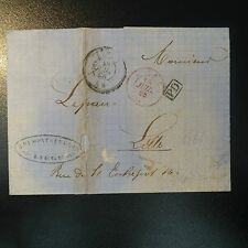 LETTRE COVER DE LIÉGE BELGIQUE 1866 / RECTO CAD FRANCE PAR MOUSCHON