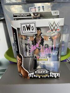 WWE MATTEL ELITE FLASHBACK SCOTT HALL RINGSIDE EXCLUSIVE AUTOGRAPH SIGNED MOC!!
