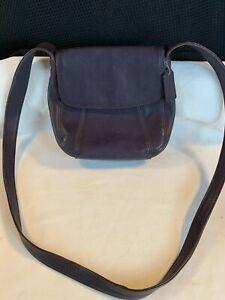 Vintage COACH Leather PURPLE Lexington Small Flap 4185 Crossbody Handbag - Italy