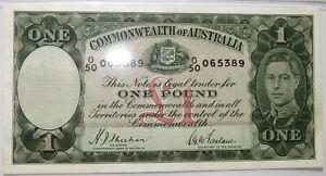 AUSTRALIA Britain 1 pound 1938 PMG 35 VF+ Sheehan & McFarlane George VI #P26a