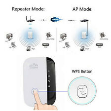 300Mbps 802.11 Wifi Repeater Wireless AP Range Signal Extender Booster EU Plug