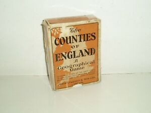 """Vintage """"The Counties of England"""" (Southern) card game by Jaques. c1930."""